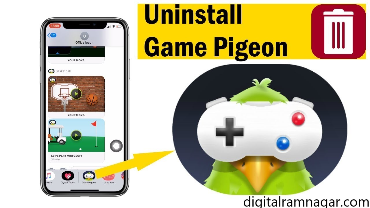 How to Delete Game Pigeon App
