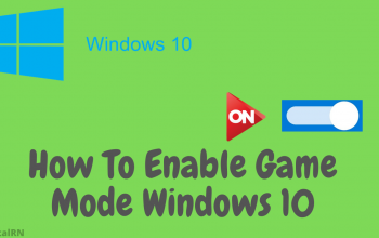 How To Enable Game Mode Windows 10